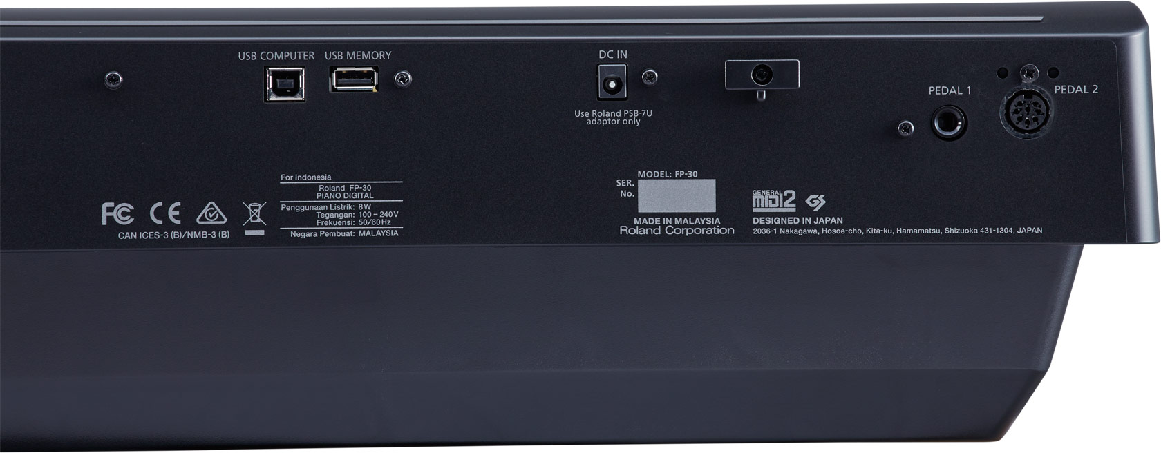 Connectivity Features of Roland FP-30