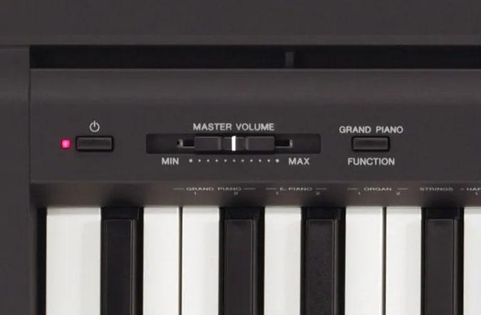 Controls of Yamaha P45
