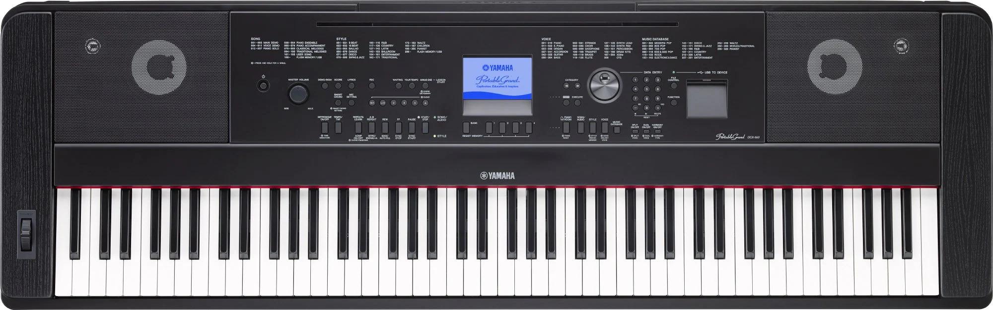Design of Yamaha DGX-660