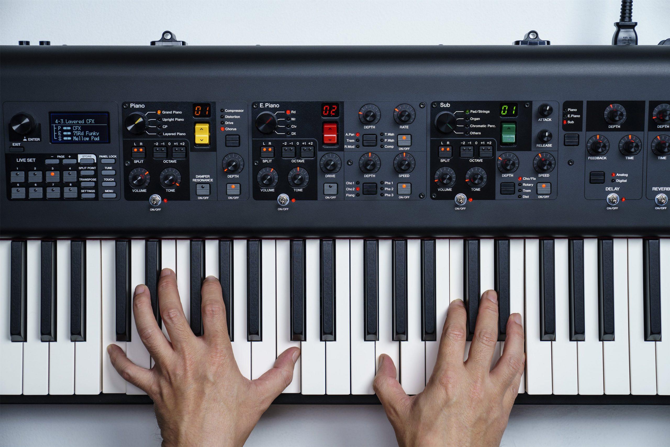 Keys of Yamaha CP88