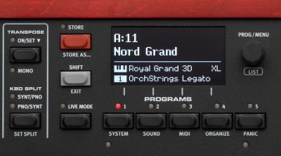 Nord Grand Digital Piano Features
